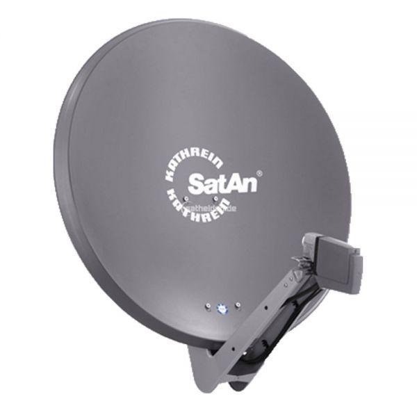 Kathrein CAS 80 Sat Alu Spiegel Antenne graphit & UAS 572 Twin LNB