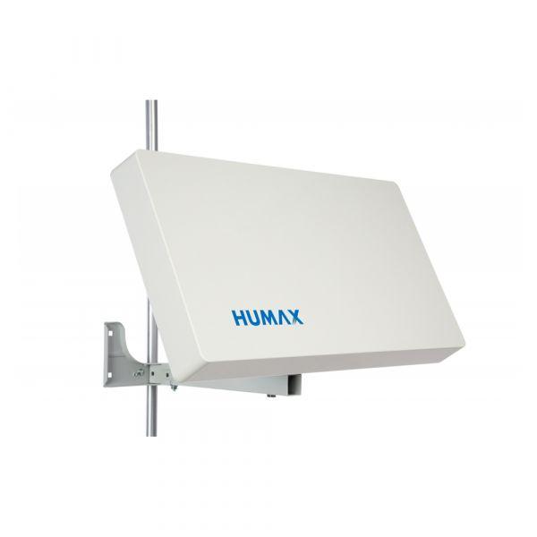 Humax Flat 50-QD Flachantenne Quad Sat Spiegel LNB 4 Teilnehmer HDTV Satelliten Antenne