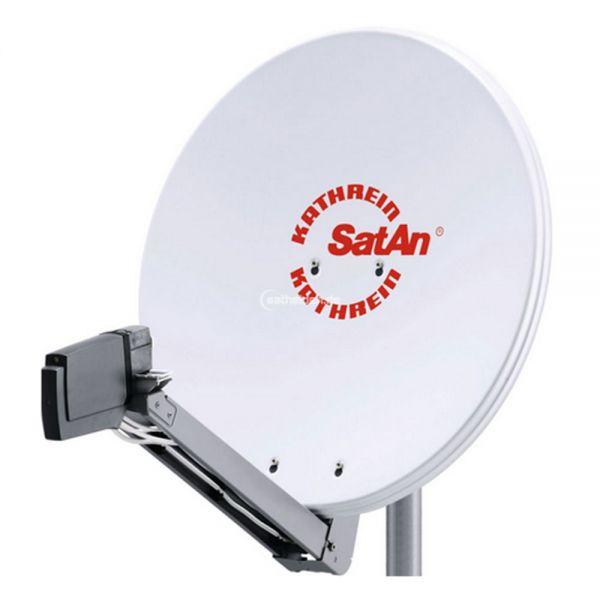 Kathrein CAS 80 Sat Alu Spiegel Antenne hell & UAS 585 Quad LNB