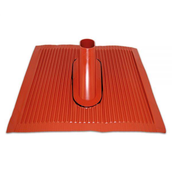 Dachziegel Kunststoff- Alu Kunststoffziegel Sat Montage 500x 440mm rot