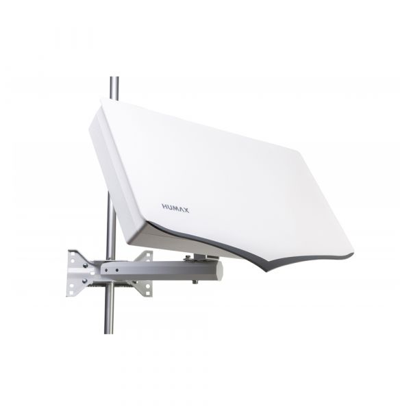 Humax Flat H40D4 Flachantenne Quad Sat Spiegel LNB 4 Teilnehmer HDTV Satelliten Antenne