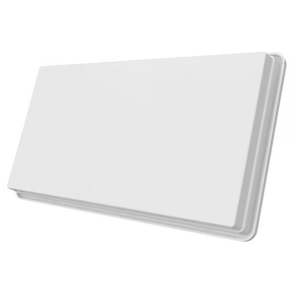 Megasat Flachantenne D4 Quad Sat Spiegel mit Fensterhalterung